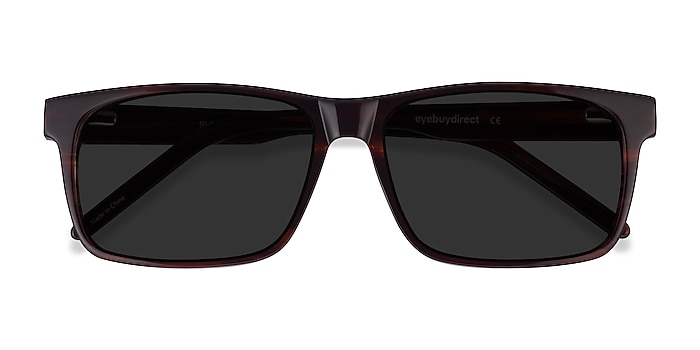 Brown Striped Sun Sydney -  Acetate Sunglasses