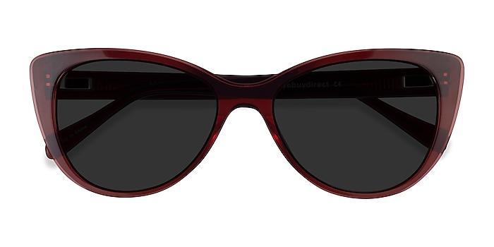 Clear Red Lamarr -  Acétate Lunettes de soleil