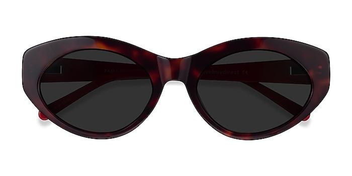 Tortoise & Red Fabulous -  Acetate Sunglasses