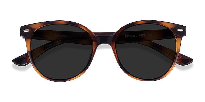 Tortoise Domino -  Plastic Sunglasses