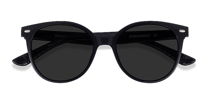 Black Domino -  Plastic Sunglasses