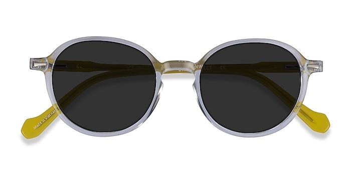 Clear Yellow Ice Cream -  Acetate Sunglasses