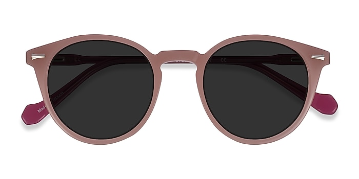 Beige Purple Fun -  Acetate Sunglasses