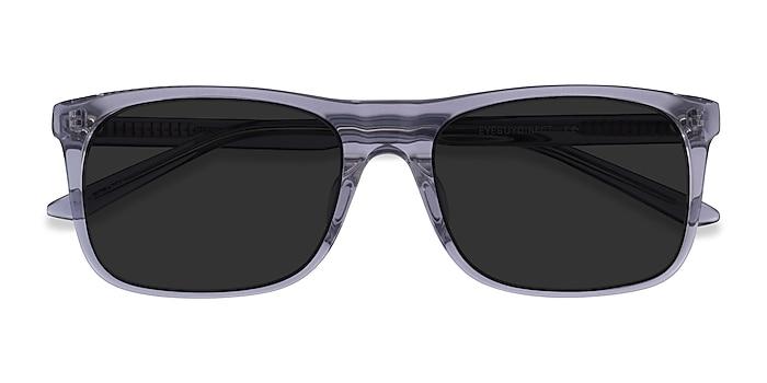 Clear Gray Silvio -  Acetate Sunglasses