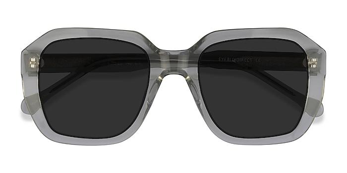 Clear Green Azalea -  Acetate Sunglasses