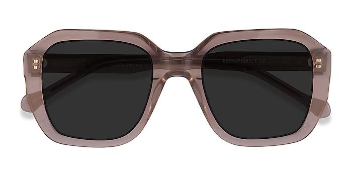 Clear Brown Azalea -  Acetate Sunglasses