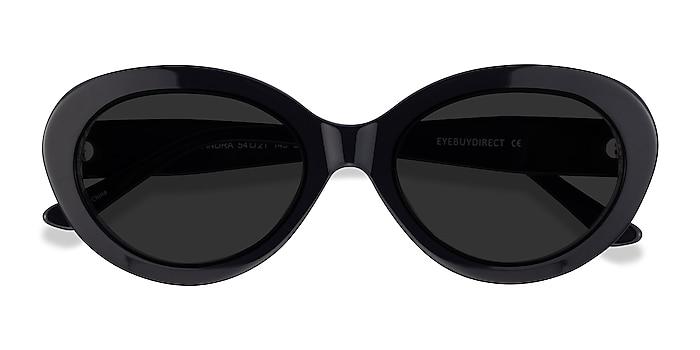 Black Zebra Alexandra -  Acetate Sunglasses