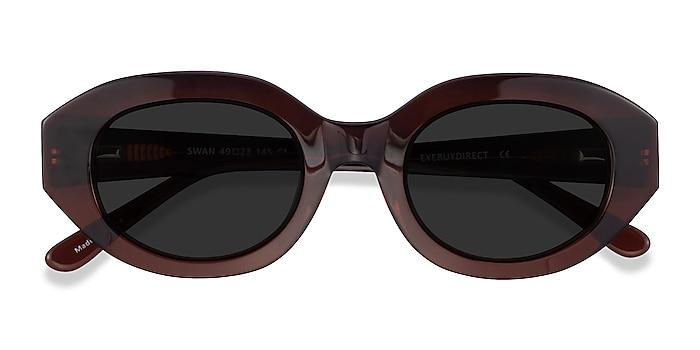 Clear Brown Swan -  Acetate Sunglasses