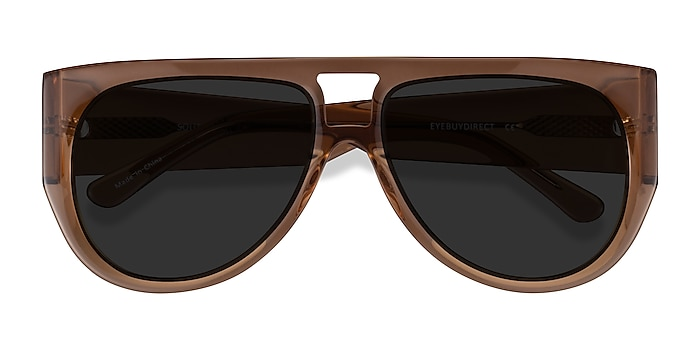 Clear Brown Southwest -  Acetate Sunglasses