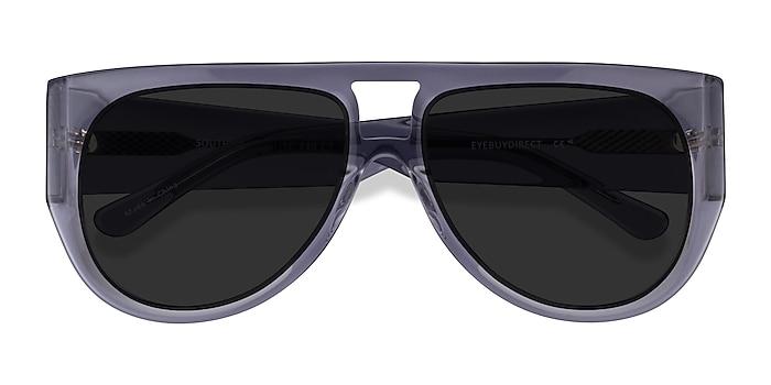 Clear Gray Southwest -  Acetate Sunglasses