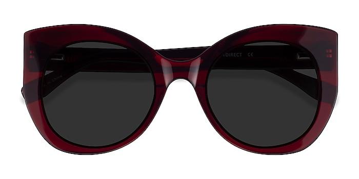 Burgundy June -  Acetate Sunglasses