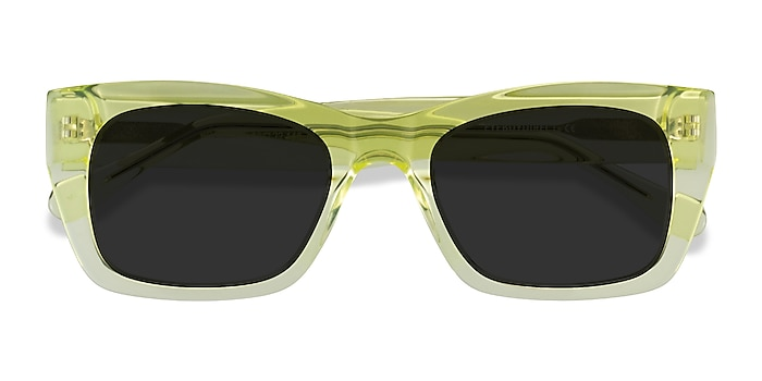 Clear Yellow Because -  Acetate Sunglasses
