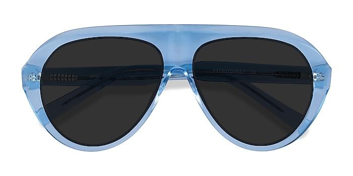 Clear Blue Map -  Acetate Sunglasses