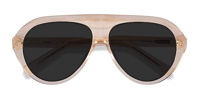 Clear Brown Map -  Acetate Sunglasses