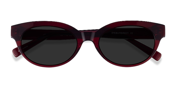 Clear Burgundy Vacation -  Acetate Sunglasses