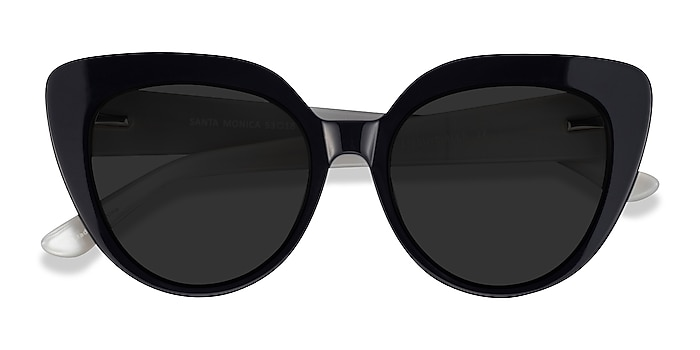 Black Santa Monica -  Acetate Sunglasses