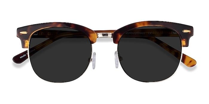 Tortoise Strata -  Vintage Acetate, Metal Sunglasses
