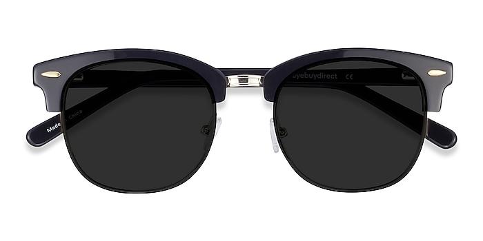 Black Strata -  Vintage Acetate, Metal Sunglasses