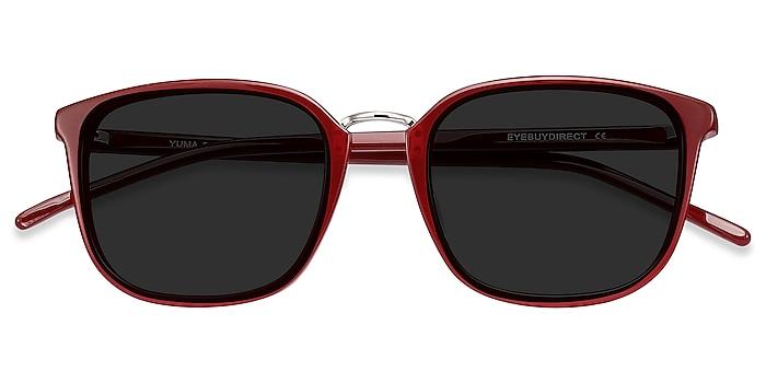 Red Yuma -  Acetate, Metal Sunglasses