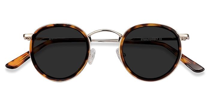 Tortoise Rollin -  Vintage Acetate, Metal Sunglasses