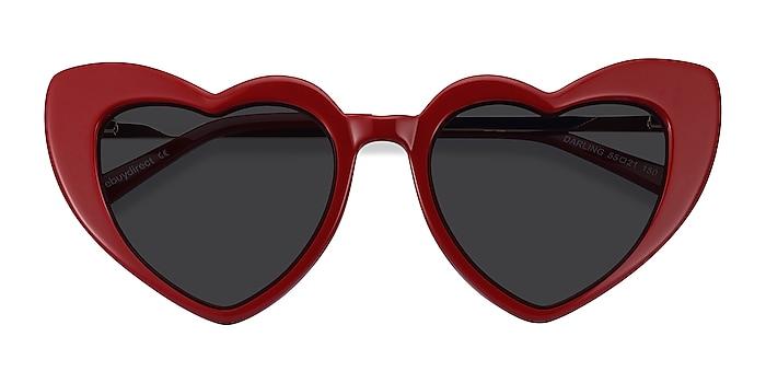 Burgundy Darling -  Acetate, Metal Sunglasses