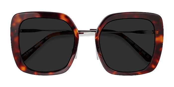 Tortoise Canopy -  Acetate, Metal Sunglasses