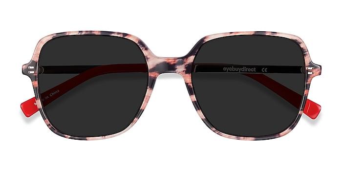 Leopard & Gold Olga -  Vintage Acetate, Metal Sunglasses