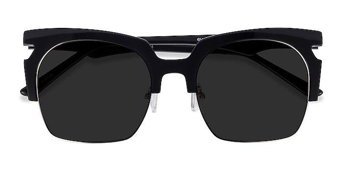 Black Ilsa -  Acetate, Metal Sunglasses
