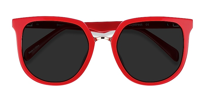 Red & Leopard Shannon -  Acetate Sunglasses