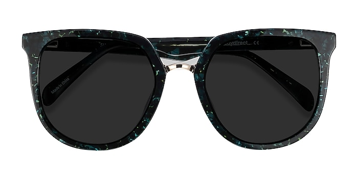 Green Floral Shannon -  Acetate Sunglasses