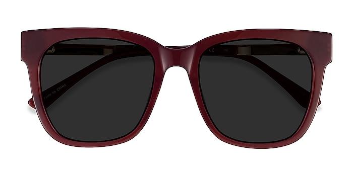 Burgundy Erica -  Acetate, Metal Sunglasses
