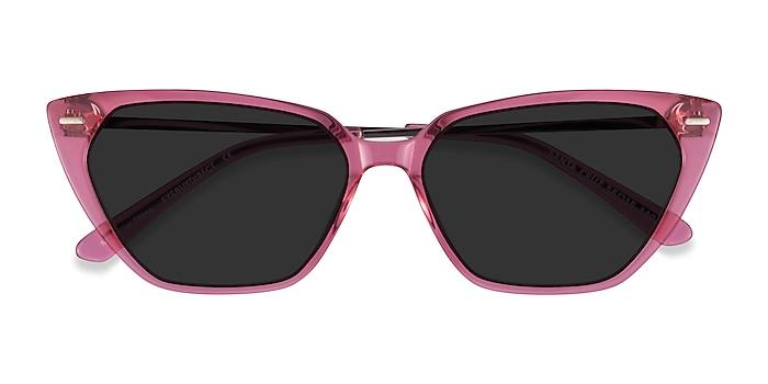 Clear Pink Santa Cruz -  Acetate Sunglasses