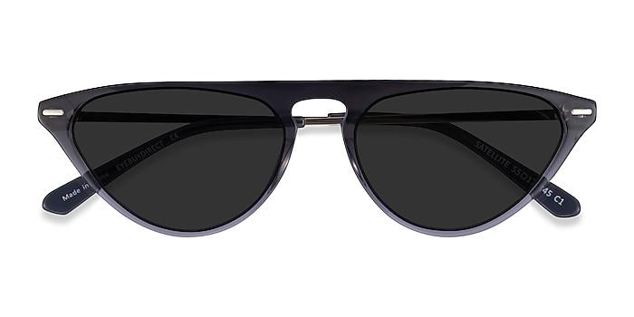 Clear Gray Satellite -  Metal Sunglasses