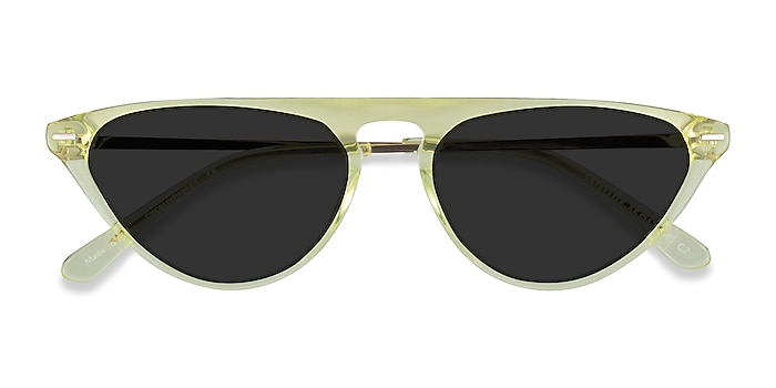 Clear Yellow Satellite -  Acetate Sunglasses