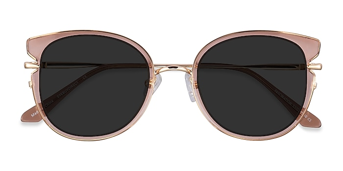 Clear Brown Gold Fascination -  Acetate Sunglasses