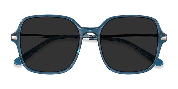 Teal Salvador -  Metal Sunglasses