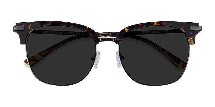Tortoise Gunmetal Monte Carlo -  Acetate Sunglasses