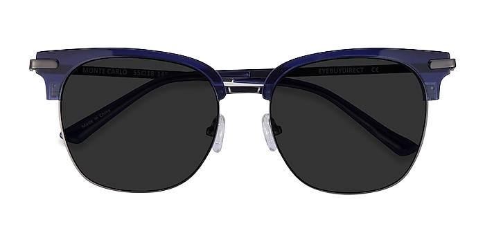Blue Gunmetal Monte Carlo -  Acetate Sunglasses