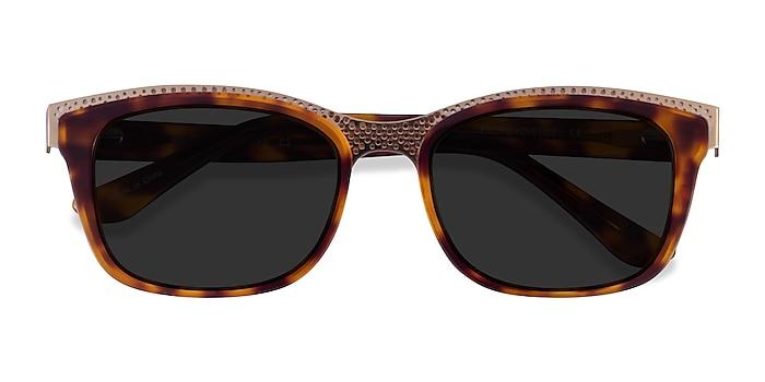 Tortoise Gold Solis -  Acetate Sunglasses