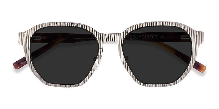 Matte Silver Electro -  Acetate Sunglasses