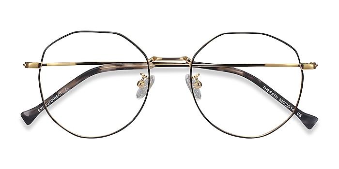 Black Golden The Path -  Lightweight Titanium Eyeglasses