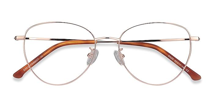 Rose Gold Gaze -  Lightweight Titanium Eyeglasses