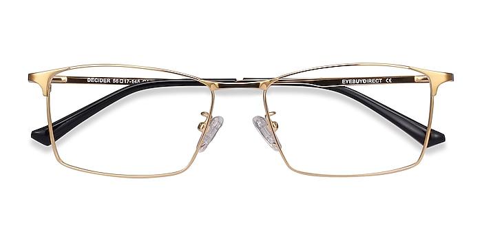 Gold Decider -  Lightweight Titanium Eyeglasses