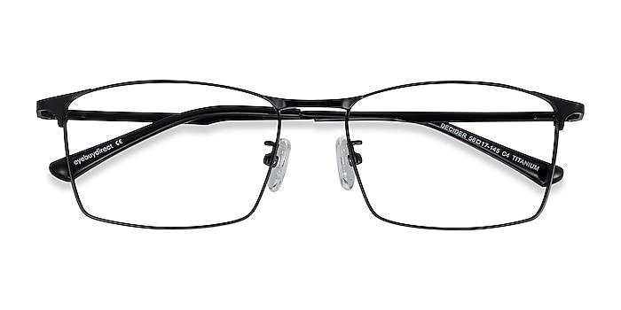 Black Decider -  Lightweight Titanium Eyeglasses