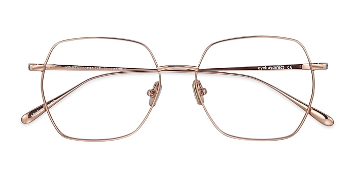 Rose Gold Holistic -  Lightweight Titanium Eyeglasses