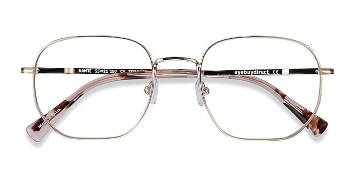 Gold Dante -  Lightweight Titanium Eyeglasses