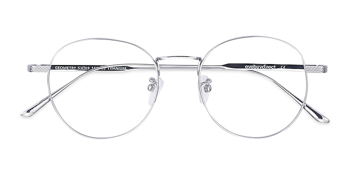 Silver Geometry -  Fashion Titanium Eyeglasses