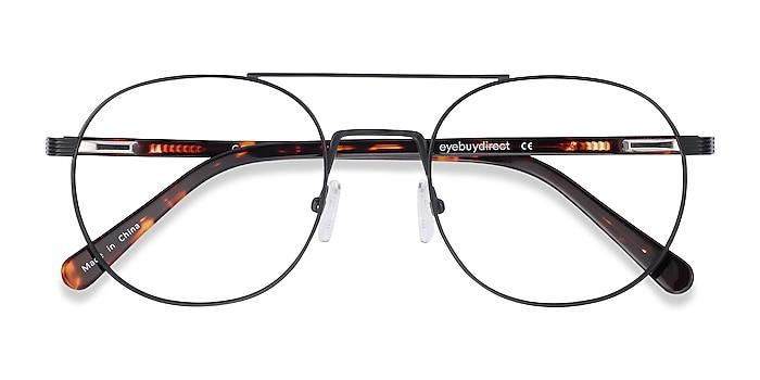 Black Gordon -  Vintage Acetate Eyeglasses