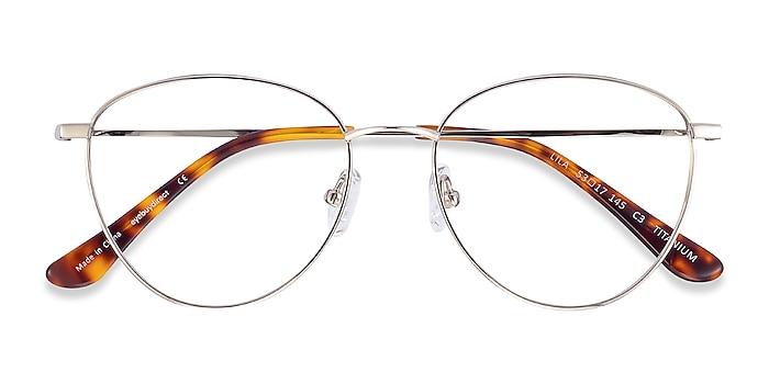 Silver Lila -  Vintage Titanium Eyeglasses