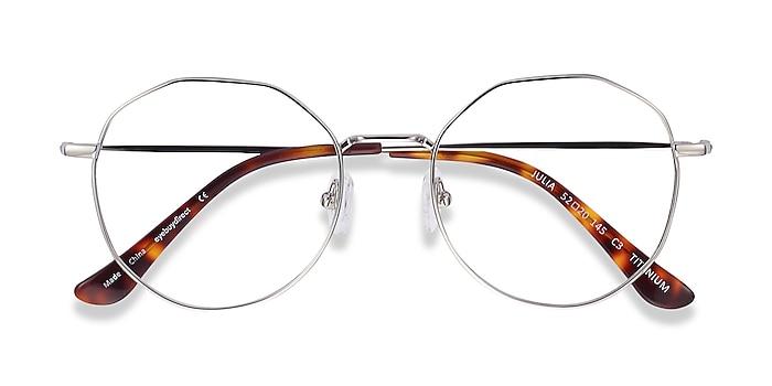 Silver Julia -  Vintage Titanium Eyeglasses